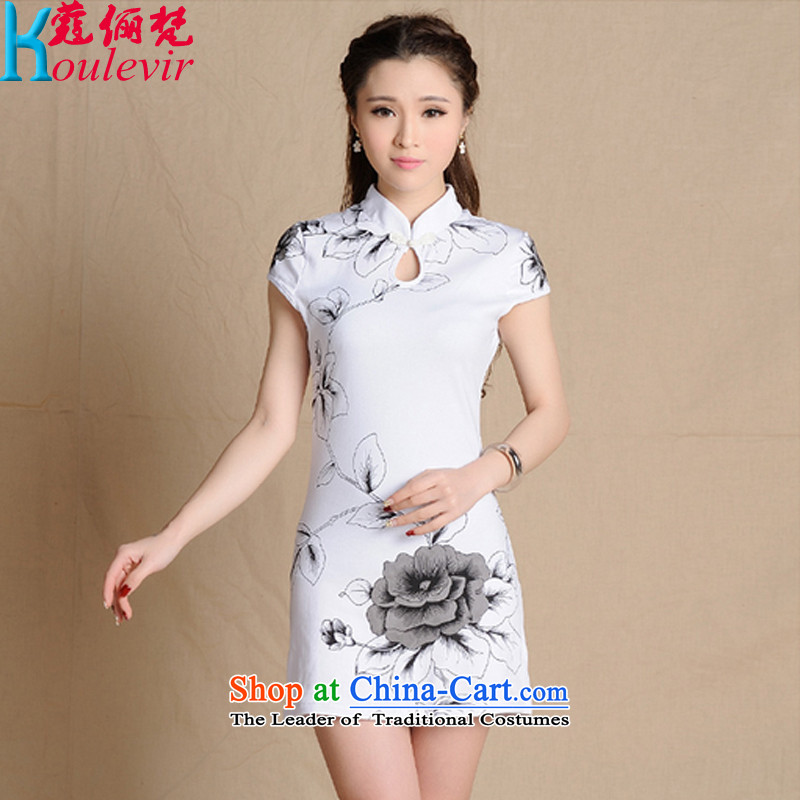 The Curtis Institute of van Gogh a� new summer 2015 stylish casual elegance of ethnic Chinese ink painting soft and beautiful antique dresses female Sau San� 5,907 yuan爓hite燣