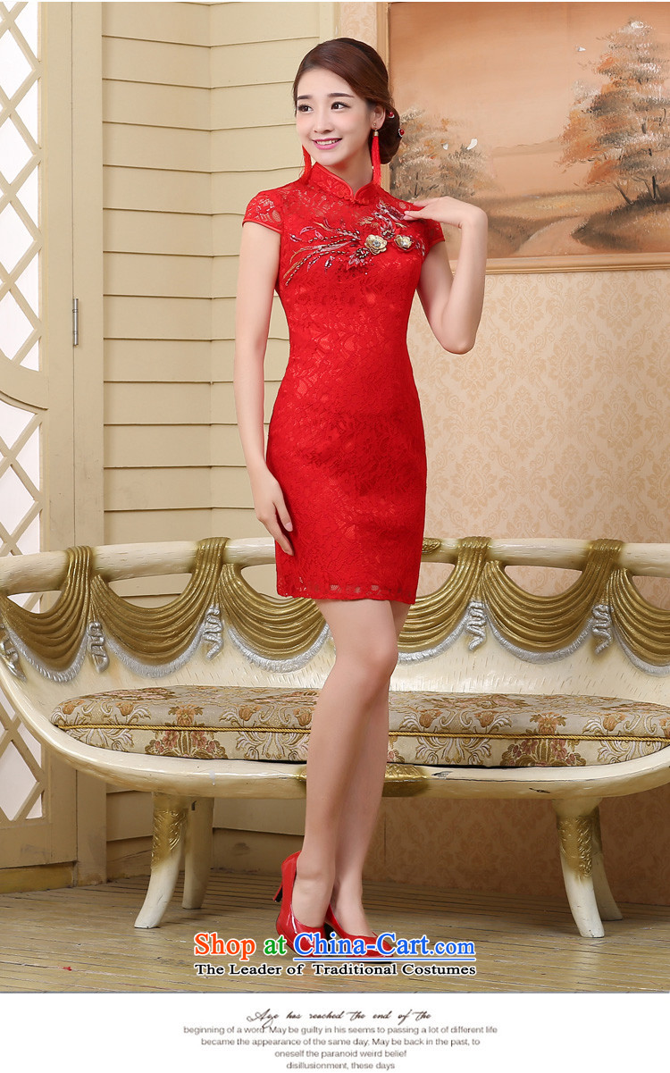 7 7 color tone聽2015 Summer new marriages wedding dresses qipao services bows red crowsfoot聽Q001 Sau San聽red short)聽XL Photo, prices, brand platters! The elections are supplied in the national character of distribution, so action, buy now enjoy more preferential! As soon as possible.