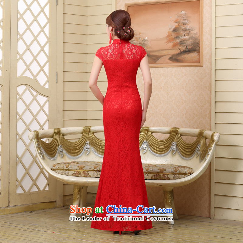 7 7 color tone聽2015 Summer new marriages wedding dresses qipao services bows red crowsfoot聽Q001 Sau San聽red short,聽XL, 7 color 7 Tone , , , shopping on the Internet