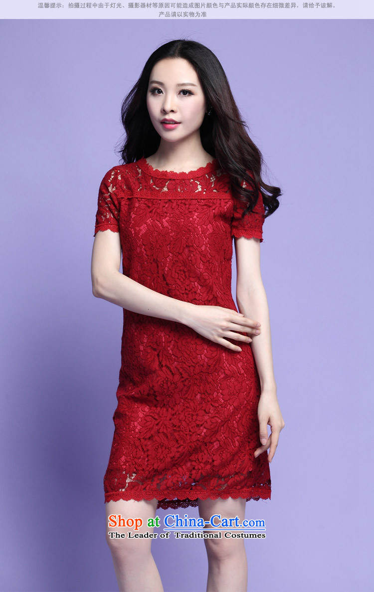 Orange Tysan *2015 Summer Korean elegant engraving lace video thin to Sau San xl thick MM wedding dresses聽XXXL red picture, prices, brand platters! The elections are supplied in the national character of distribution, so action, buy now enjoy more preferential! As soon as possible.