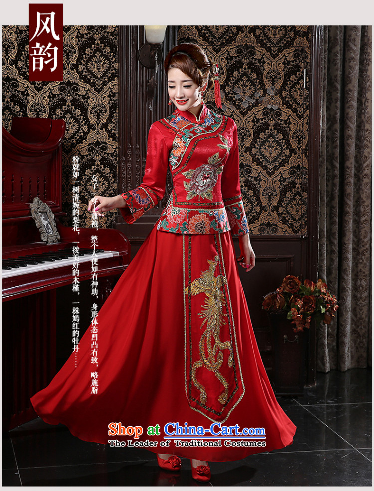 In spring and summer 2015 new red long marriages bows services retro graphics thin large improved long-sleeved qipao RED M pictures, prices, brand platters! The elections are supplied in the national character of distribution, so action, buy now enjoy more preferential! As soon as possible.