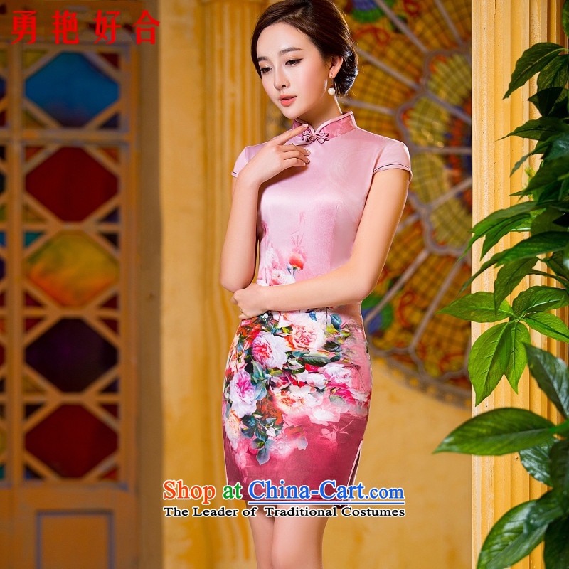 2015 Spring, Summer, Autumn and the new summer cheongsam dress of nostalgia for the Republic of Korea and stylish girl short of daily improved qipao picture color?M _