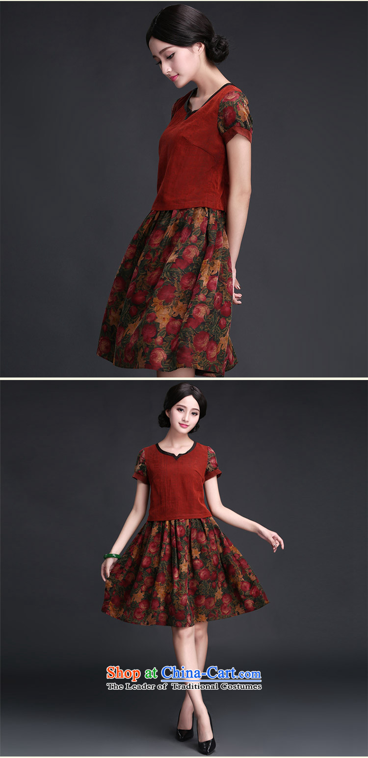 Chinese New Year 2015 Classic Serb President Tang dynasty daily incense cloud yarn cheongsam dress 2015 Summer improved Stylish retro-track chords XL Photo, prices, brand platters! The elections are supplied in the national character of distribution, so action, buy now enjoy more preferential! As soon as possible.