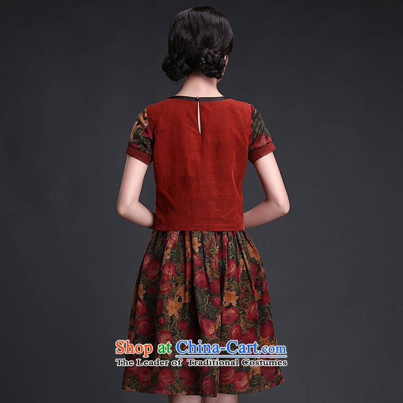 Chinese New Year 2015 Classic Serb President Tang dynasty daily incense cloud yarn cheongsam dress 2015 Summer improved Stylish retro- XL, China ethnic song chords HUAZUJINGDIAN Classic () , , , shopping on the Internet