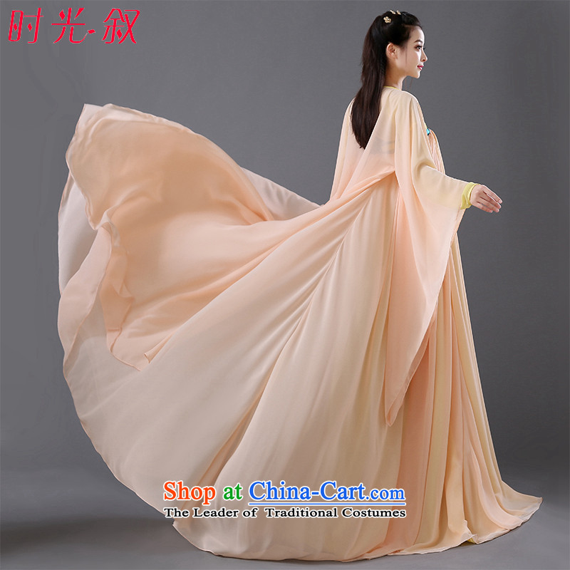 The same time Syrian Empress Wu Tang dynasty princess of ancient garment fairies skirt female guzheng will Han-han-women's clothing girls skirt fairies princess serving Orange photo building are suitable for 160-175cm code