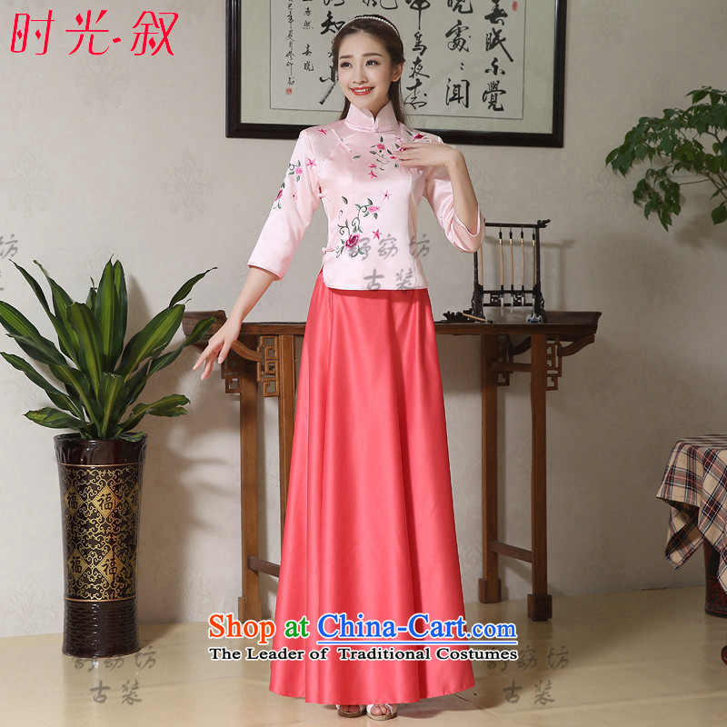 Time Syrian videos to seize a man Rainbow Costume Zheng Shuang republic of korea 1919 students with fairies embroidered dress women wearing costume guqin guzheng clothing pictures do not dress photo building are embroidered code suitable 160-175cm
