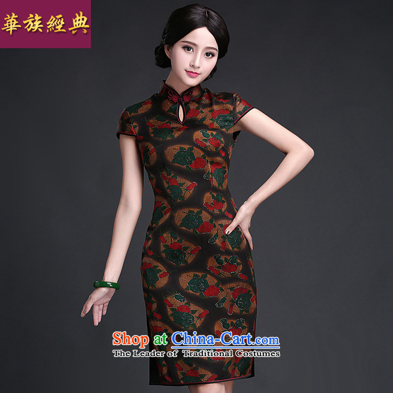 Chinese New Year 2015 classic ethnic Chinese daily, silk yarn qipao cloud of incense dresses summer improved stylish suit聽L