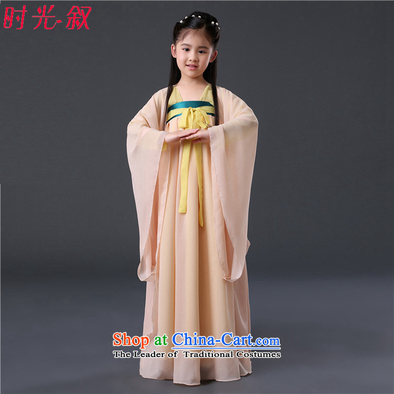 Classic prey Li cosplay girls chiffon skirt children costume fairies Han-scholar, the services of the girl child Gwi-skirt Princess Guqin Guzheng Tang dynasty photo building photo album Photo building are suitable for 160-175cm code