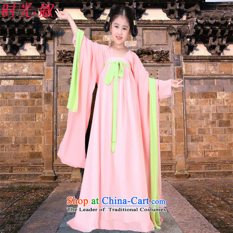 Photo building costume photography photo album clothing Empress Wu fairies skirt pink children into the palace serving girls photo building photo album princess skirt stage shows pink pink dress you can multi-select attributes by using 150