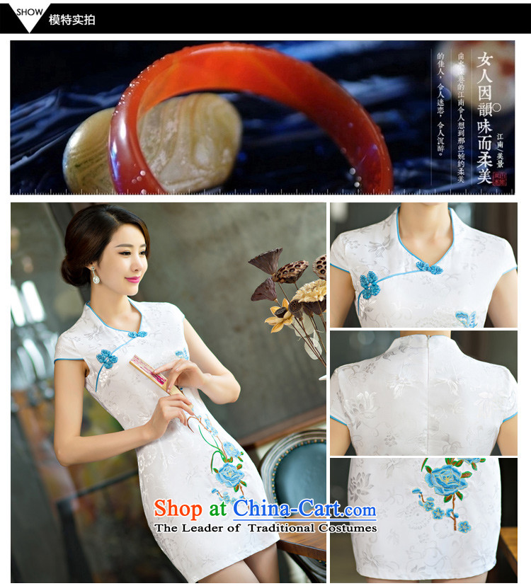Sato Log?聽2015 Summer improved female cheongsam dress retro-day short of Sau San qipao gown NC321-4 9005 teal聽L picture, prices, brand platters! The elections are supplied in the national character of distribution, so action, buy now enjoy more preferential! As soon as possible.