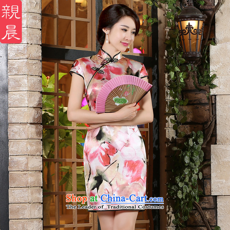 The pro-am new women's dresses skirt for summer 2015, improvement of the day-to-day qipao short skirt Fashion heavyweight herbs extract)?S-five days Short Shipment