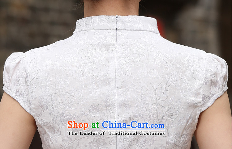 Sato Log?聽2015 new stylish short qipao summer improved cheongsam dress cheongsam dress B518 Ms. daily 1120 White聽XL Photo, prices, brand platters! The elections are supplied in the national character of distribution, so action, buy now enjoy more preferential! As soon as possible.