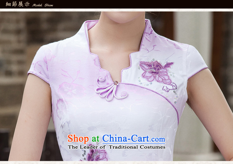 Sato Log?聽2015 Spring Summer Stylish retro QIPAO) short skirt daily qipao gown B518 skirt 1127 violet聽L picture, prices, brand platters! The elections are supplied in the national character of distribution, so action, buy now enjoy more preferential! As soon as possible.