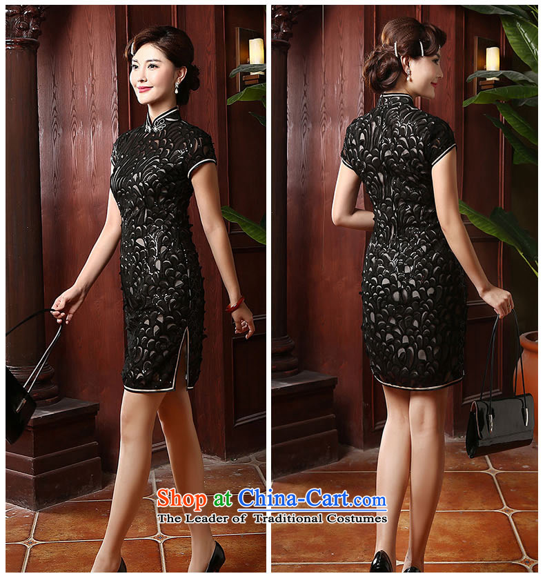 [Sau Kwun Tong] acknowledge the 2014 Summer Dream New Long cheongsam look good retro qipao skirt QD4703 black long XXXL picture, prices, brand platters! The elections are supplied in the national character of distribution, so action, buy now enjoy more preferential! As soon as possible.