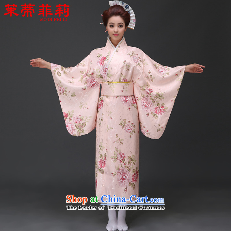 Energy Tifi Li kimono Japanese new women's temperament Japan cherry blossoms is national will pink聽S