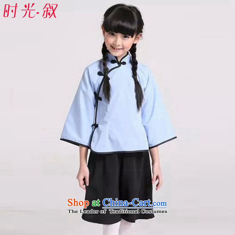 The Republic of Korea, Syrian children ancient time clothing girls with the 4 May Youth Services students will show a school uniform early childhood photo album chorus of the recitation clothing Light Blue?120