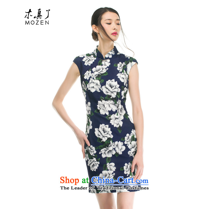The cheongsam dress wood really Summer 2015 new products imported female chiffon qipao Sau San Stretch Dress 42780 00 ZOSHIKI�M