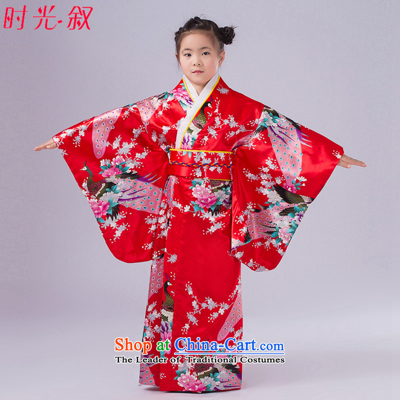 Time the Japanese children Syrian kimono female Japanese kimono cos is improved uniforms temptation photo building photo album will dance to Red�0