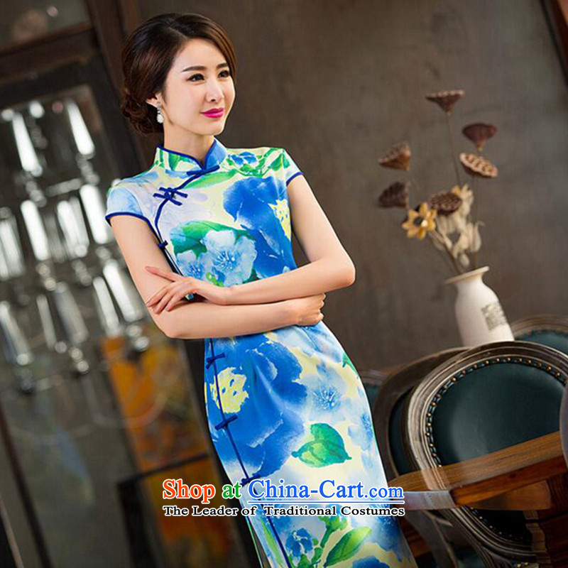 Find New Ms. Sophie antique dresses Chinese collar Sau San video thin improved long green dress in the ordinary course of Qipao� 2XL