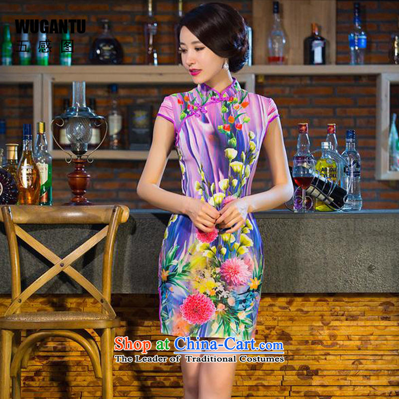 The five senses the new summer 2015 figure short qipao daily fashion improved Sau San cheongsam dress China wind qipao female suit XXL
