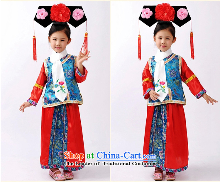 The Syrian children girls stay small pearl clothing costume stage costumes will serve traditional Qing dynasty odalisque flag Qing Clothing ancient photography female Halloween green in red vest 120 pictures, prices, brand platters! The elections are supplied in the national character of distribution, so action, buy now enjoy more preferential! As soon as possible.