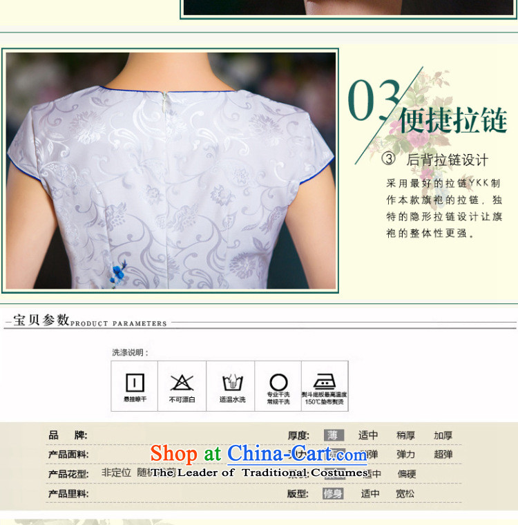 The five senses figure forsummer 2015 new embroidery short, temperament cotton jacquard Sau San cheongsam dress China wind short qipao female picture colorpictures, prices, XL brand platters! The elections are supplied in the national character of distribution, so action, buy now enjoy more preferential! As soon as possible.