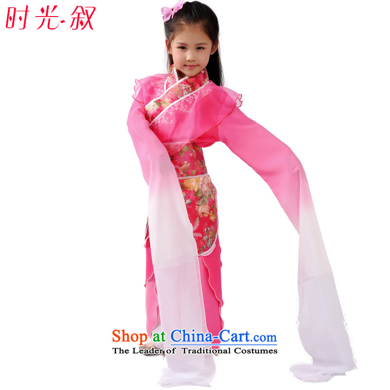 Syria classical Han-time female princess fairies skirt clothes ladies Children Dance Dance Lotus water services cuff selection will be disabled the surprise skirt Che-dance stage show clothes pink聽150