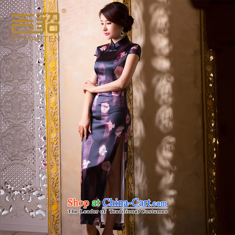 燭he spring and summer of 2015, Marten, women's upscale improved qipao gown length of silk Chinese female Foutune of dresses days following the first燤