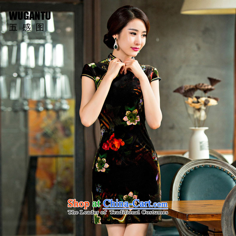 The five senses figure in summer and autumn in new stylish older mother load short of qipao scouring pads Sau San antique dresses picture color XL