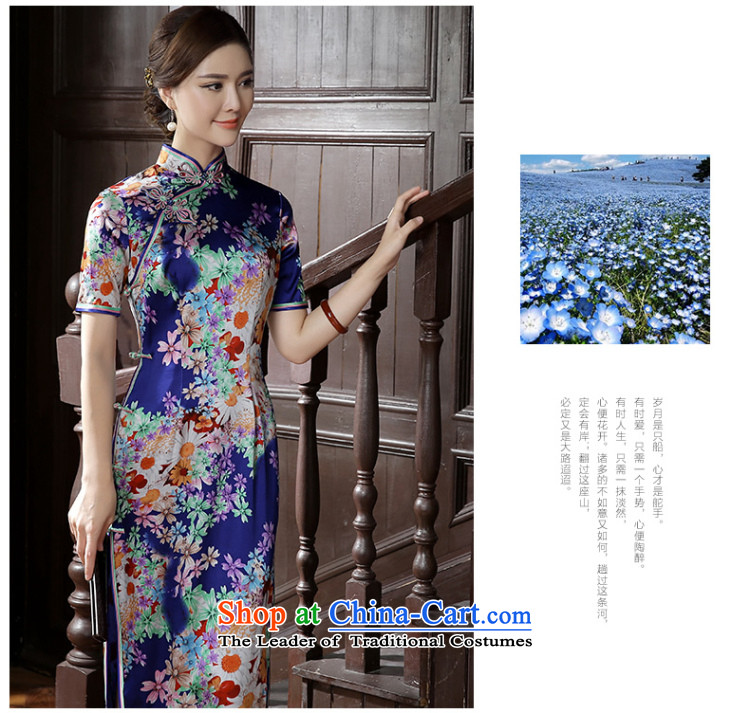 [Sau Kwun tong] the estimated 2015 Autumn new high-end Silk Cheongsam herbs extract long dress suit L picture, prices, brand platters! The elections are supplied in the national character of distribution, so action, buy now enjoy more preferential! As soon as possible.
