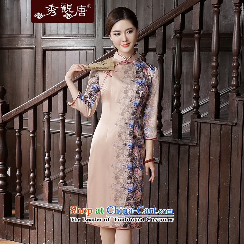 -Sau Kwun Tong- Jersey 2015 Autumn Load Selina Chow new improvements in the stylish retro qipao cheongsam dress suits long-sleeved聽XL