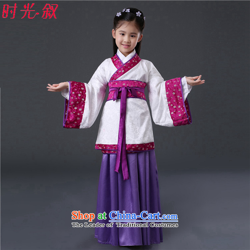 The Syrian?children by the year 2015 hour new will replace Han-Tang Princess Gwi-load floor serving dishes costume photography chun xiao girls Han-fairies skirt purple?130