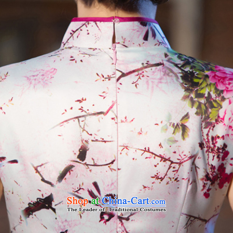Dan smoke new cheongsam dress Chinese water droplets Mock-neck Ms. retro graphics thin improved long gown incense strive daily qipao聽S, Dan Smoke , , , shopping on the Internet