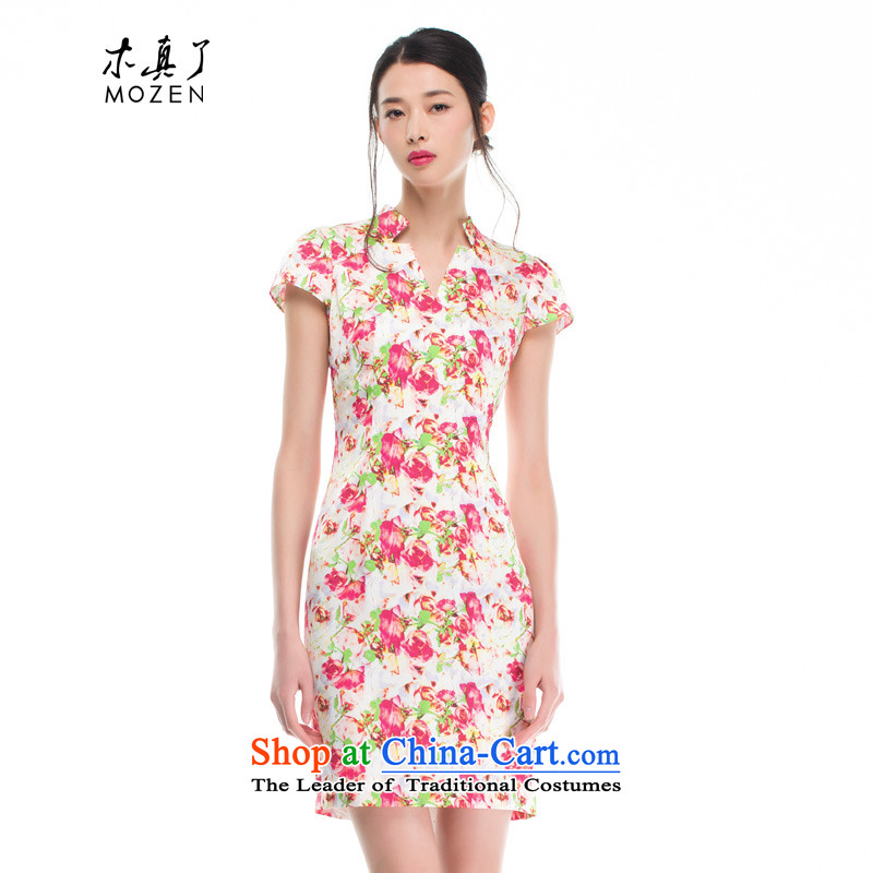 The women's true   an idyllic wind stamp chiffon cheongsam dress for summer 2015 new products 42833 00 ZOSHIKI燤
