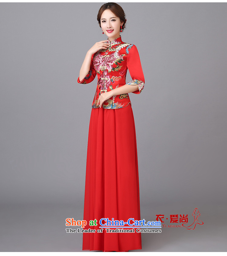 The new 2015 wedding dresses marriages CHINESE CHEONGSAM red long bows services serving women in spring and summer qipao red can be made plus $30 does not return pictures, prices, brand platters! The elections are supplied in the national character of distribution, so action, buy now enjoy more preferential! As soon as possible.