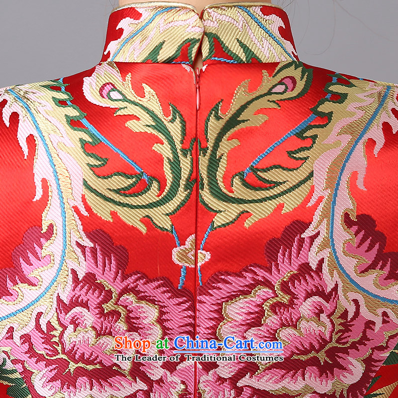 The new 2015 wedding dresses marriages CHINESE CHEONGSAM red long bows services serving women in spring and summer qipao red can be made plus $30 does not return, Yi Sang Love , , , shopping on the Internet