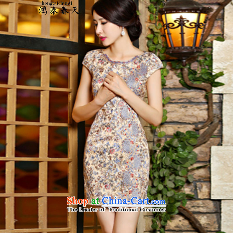 Hong Tai spring? �� new lace cheongsam dress Sau San video thin dresses and stylish girl C321D901880 suit?S
