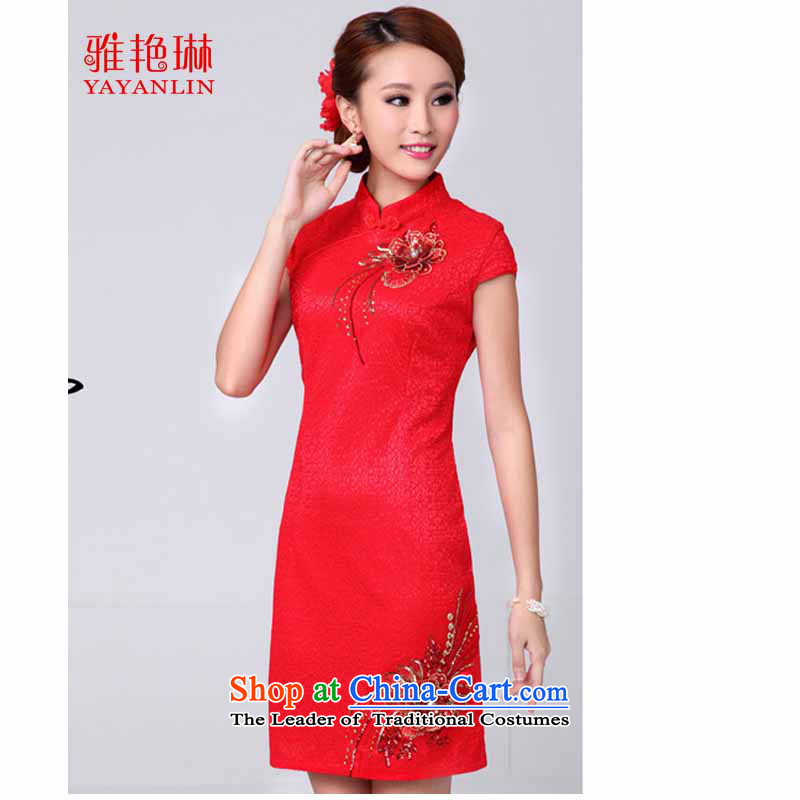 Ya Yun Lin 2015 Service red bows brides of qipao autumn�15 stylish married new dresses red燬