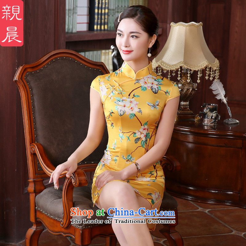 At 2015 new pro-autumn day-to-day summer retro style short of improved cheongsam dress Sau San dresses female picture color 2XL