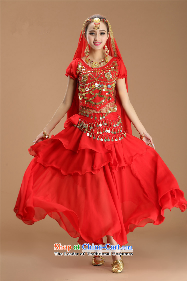 Energy Tifi Li Indian dance clothing will new belly dance ethnic costumes Red 8 piece set picture, prices, brand platters! The elections are supplied in the national character of distribution, so action, buy now enjoy more preferential! As soon as possible.