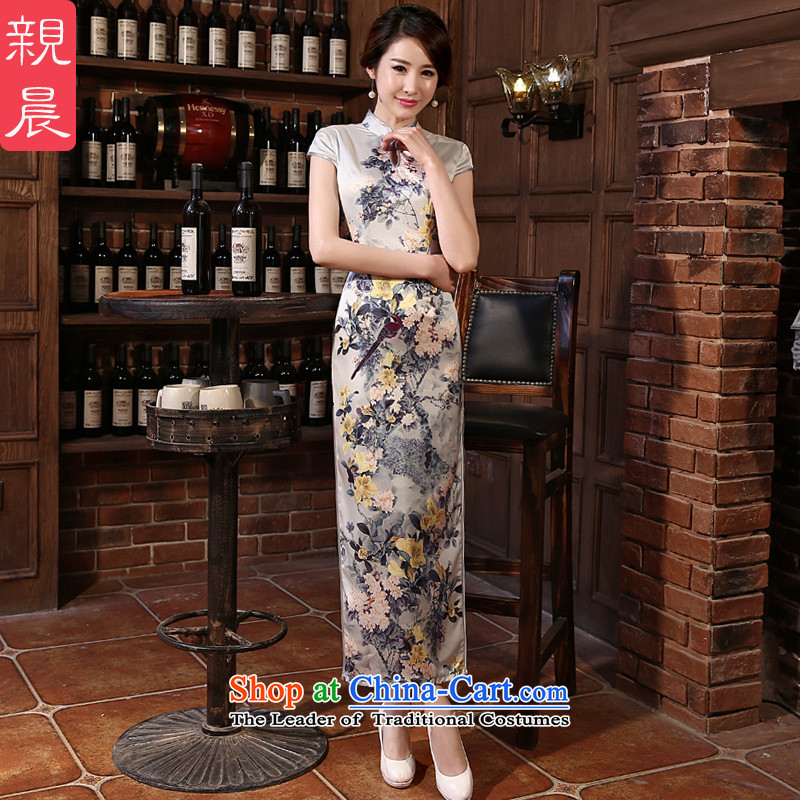The pro-am daily cheongsam dress 2015 new dresses autumn summer Ms. retro long improved stylish long?S