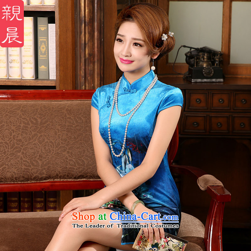 The elections as soon as possible for summer morning pro-wedding wedding celebration in 2015 new moms with retro older dresses qipao short,�L