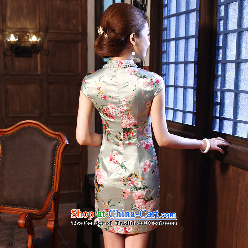 At 2015 new parent dulls short-sleeved retro daily improved stylish Sau San, Ms. Short skirts cheongsam dress photo color 2XL, pro-am , , , shopping on the Internet