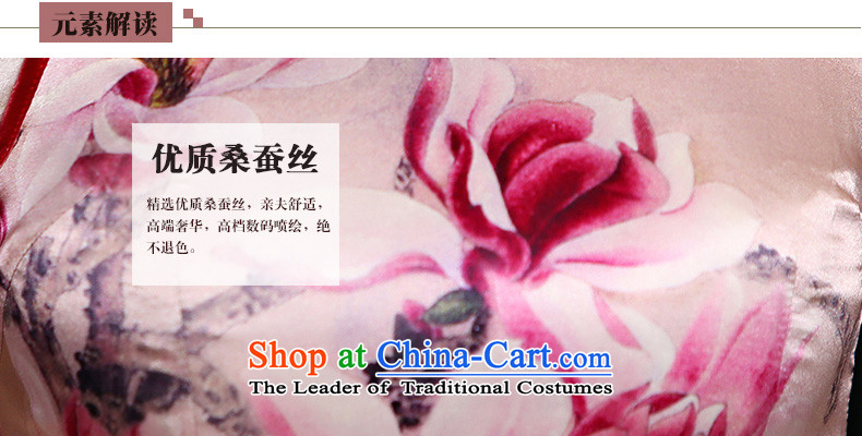 Qipao skirt improved new summer 2015, stylish short, sauna Jamsil Sau San Silk Dresses Q1141 pink S picture, prices, brand platters! The elections are supplied in the national character of distribution, so action, buy now enjoy more preferential! As soon as possible.
