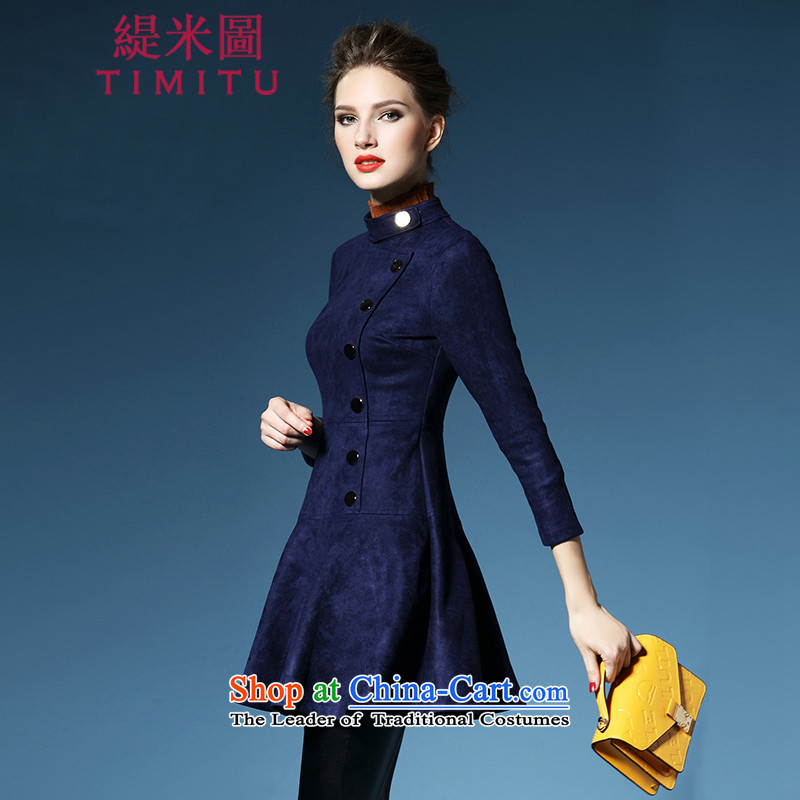 Economy figure of autumn and winter 2015 new ultra high-end of the dresses in Sau San long chamois leather lint-free pictures color燬