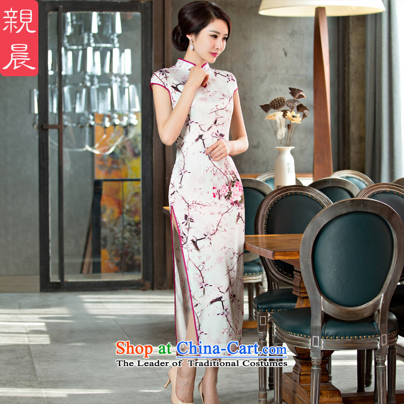 The pro-am daily new improvements by 2015 Ms. Stylish retro summer long short-sleeved cheongsam dress long燬