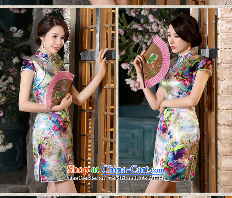 The pro-am New Silk Cheongsam dress 2015 Summer improved daily herbs extract qipao stylish short of Female dress suit聽2XL Photo, prices, brand platters! The elections are supplied in the national character of distribution, so action, buy now enjoy more preferential! As soon as possible.
