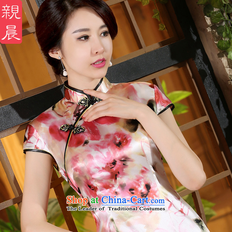 The pro-am new women's dresses skirt for summer 2015, improvement of the day-to-day qipao short skirt Fashion heavyweight herbs extract short,?L