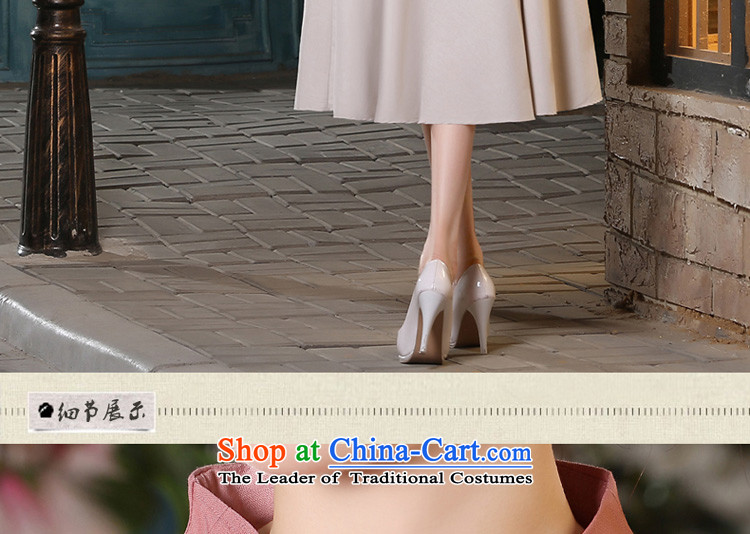 The pro-am new cotton linen clothes short of Qipao 2015 summer and fall of replacing old stylish daily improved Dress Shirt + in beige skirt M picture, prices, brand platters! The elections are supplied in the national character of distribution, so action, buy now enjoy more preferential! As soon as possible.