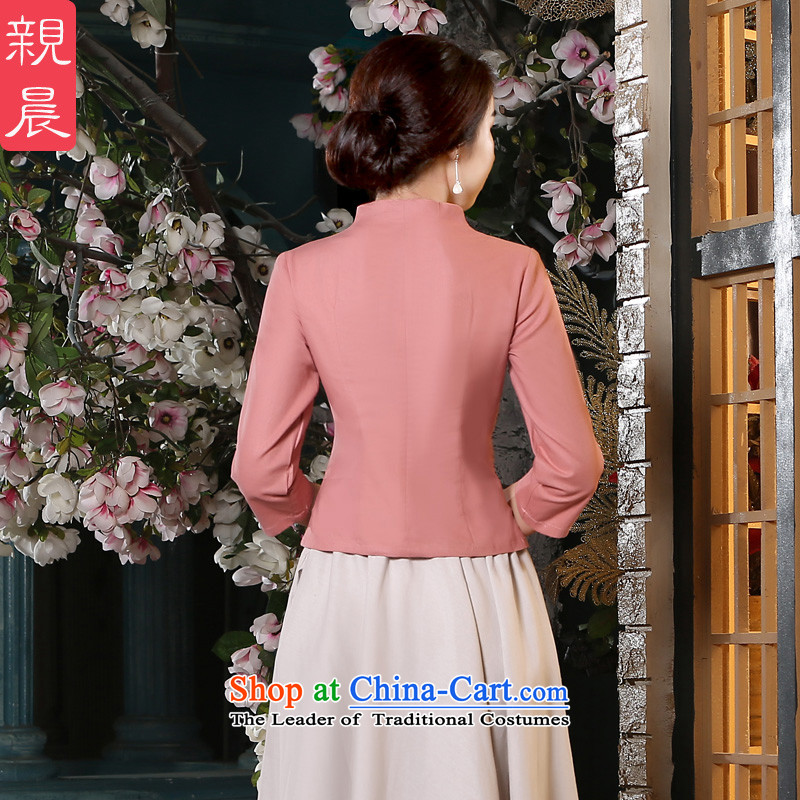 The pro-am new cotton linen clothes short of Qipao 2015 summer and fall of replacing old stylish daily improved Dress Shirt + in beige skirt M, PRO-AM , , , shopping on the Internet